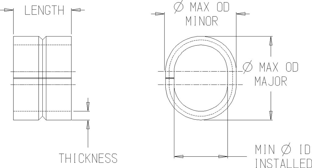 Compression Limiter Closed Seam Oval Iso 8 8 M D