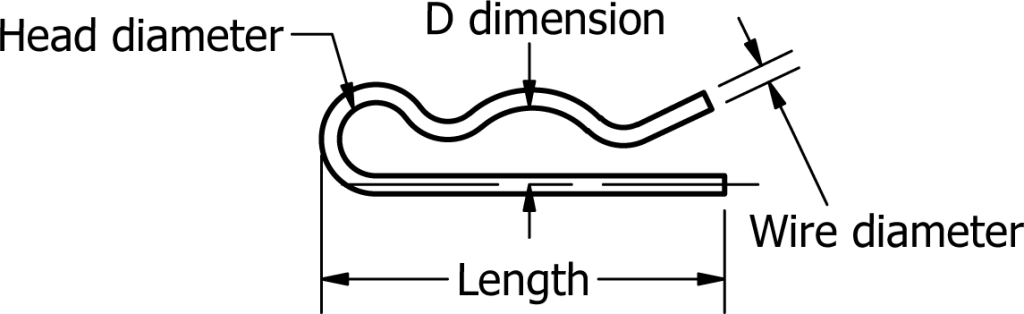 internal hair pin cotter diagram